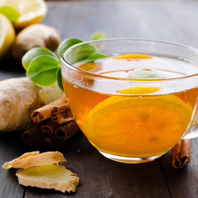 Gesunde Selbstgemachte Ingwer-Tee